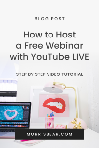 How to Host a Free Webinar on Youtube Live 2020